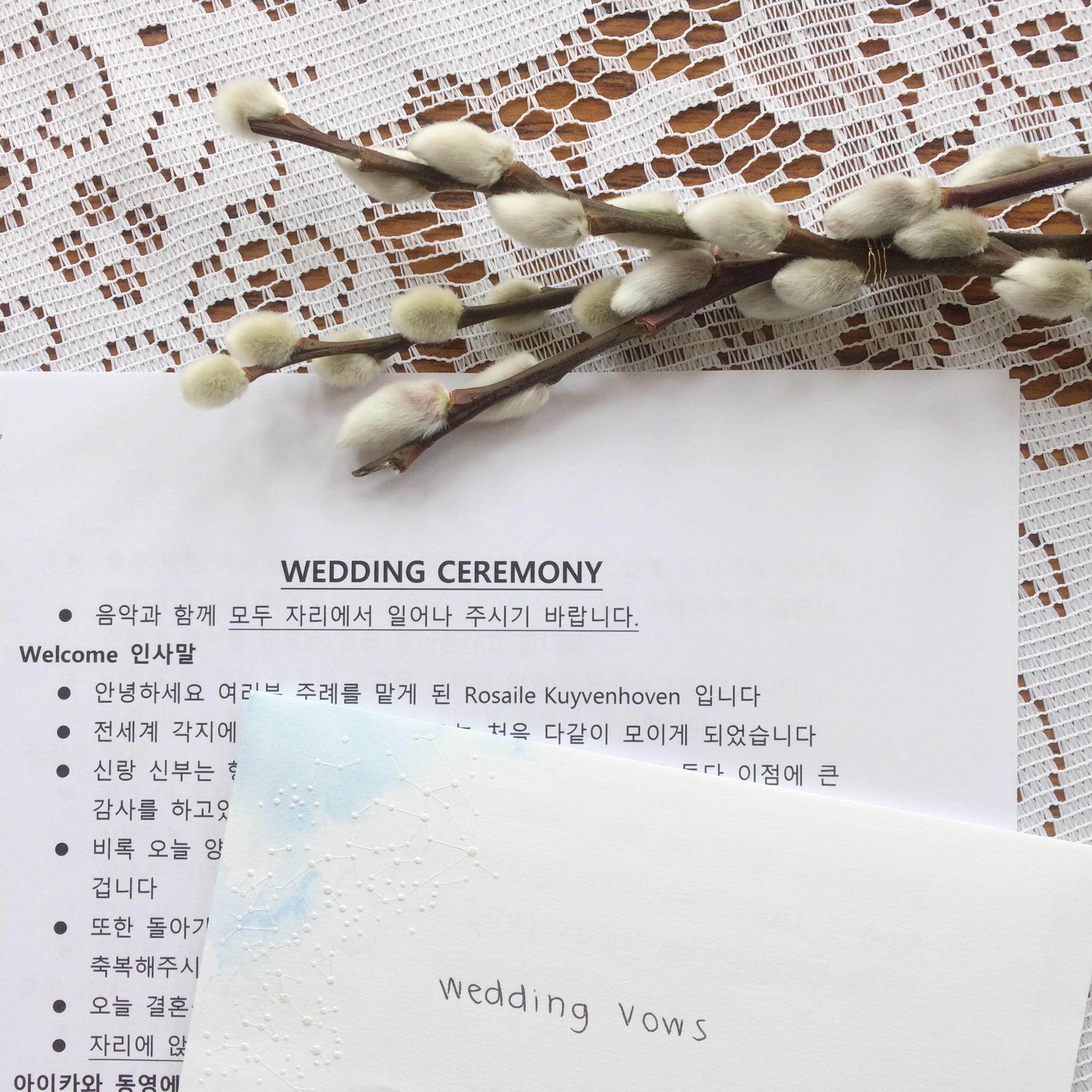Multilingual wedding ceremony. Photo credits (c) Rosalie Kuyvenhoven