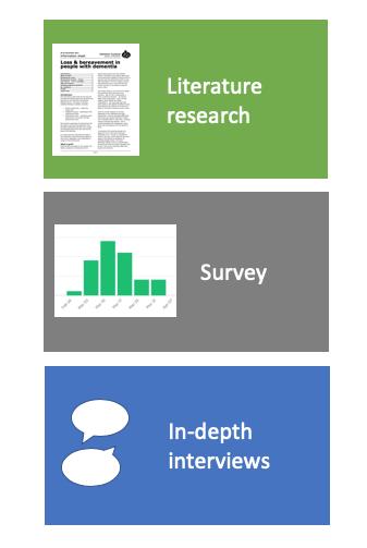 Research methods: literature, survey, interviews