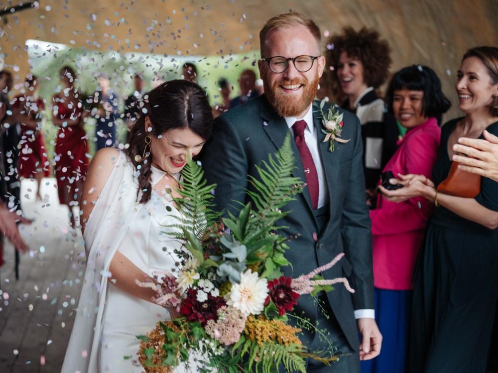 Confetti moment! Copyright (c) Insta Wedding